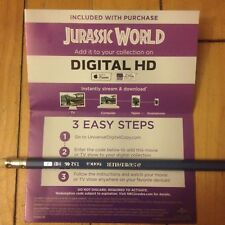 (2015) Jurassic World / Chris Pratt / CANADA DIGITAL HD ULTRA VIOLET (code only)