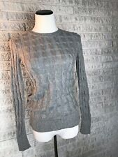 Gap Sweater Gray Cable Knit Angora Blend Size Small Soft & Warm Crew Neck Fall