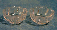2 Miniature Glass Bowls 12th Scale For Dolls Houses etc.