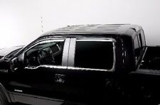 Element Chrome Trim Window Visors Fits 2009-2014 Ford F150 Crew Cab (Set of 4)