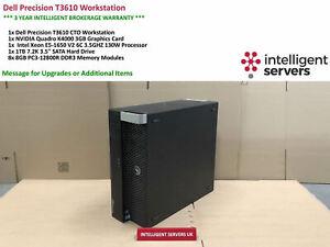 Dell T3610 Workstation, Intel E5-1650 V2 3.50GHz, 64GB, 1TB HDD, Quadro K4000
