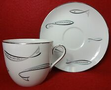 "NORITAKE china FISH pattern 1359 Oversized Cup & Saucer Set - 3-1/8"""