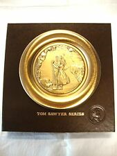 "Norman Rockwell ""Lost In A Cave"" Tom Sawyer Series Copper Relief 8"" Plate Boxed"