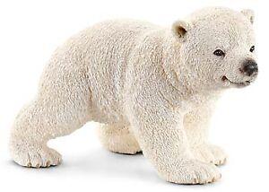 Schleich - Polar Bear Cub in Walking Pose toy figure NEW * Wild Life #14708