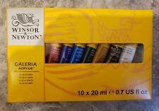 Winsor & Newton Galeria Acrylic 10 x 20 mL 2190525 Color Set NEW in Box