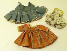 Vintage 1950 - 1960's 3 Outfits For Small Baby Doll