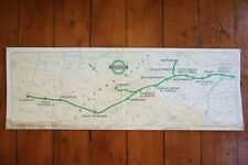 1945 Original London Underground Tube Carriage Route Map Advertising Poster