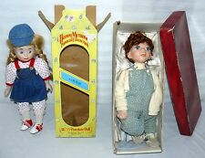 LOT SET OF 2 PORCELAIN DOLLS 1 BOY 1 GIRL