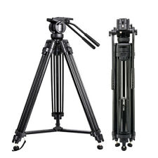 ZOMEI Professional Fluid Head Tripods Video Tripod QR Plate For Camcorder Camera