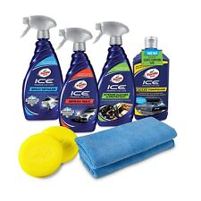 Car Care Kit Gift Pack Complete Premium Auto Detailing Wash Wax Clean Turtle Ice