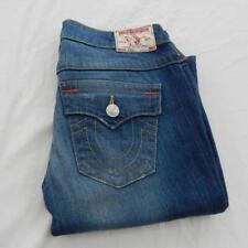 True Religion Billy Straight Leg Jeans Size 10 Waist 28 Leg 34 Zip Fly (M7061)