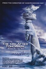 THE DAY AFTER TOMORROW Movie POSTER 27x40 B Dennis Quaid Jake Gyllenhaal Emmy