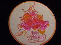 Vintage Kitsch MUSIC NOTE Coaster Set 1960s//70s Cheese @ HONG KONG