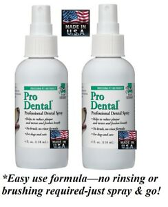 2-Top Performance ProDENTAL Dental Oral SPRAY PET*Clean TEETH,REDUCE ODOR,PLAQUE
