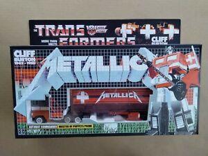 Transformers G1 Metallica Optimus Prime custom unapplied 100% complete n box!!!