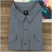 KUHL Mens Short Sleeve Button Front Hiking Casual Shirt Size 2XL Vented