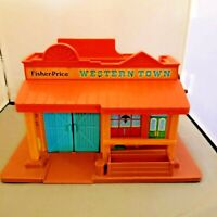 Fisher Price Little People Western Town Play Family #934 - Building Only