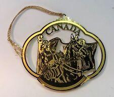 Canada Brass Ornament no box