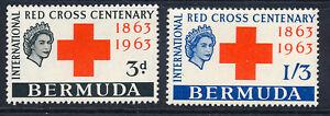 BERMUDA 1963 RED CROSS CENTENARY SG181/182  MNH