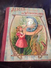 Vintage Alice's Adventures In Wonderland Lewis Carroll Illustrated Donohue Book