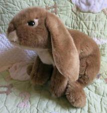 "Animal Alley Brown Plush Life Like Stuffed Heavy Bean Bag Bunny Rabbit 12"" EUC"
