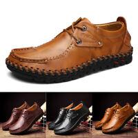 Herren Halbschuhe Leder Slipper Business Schuhe Penny Loafer Mokassins GR.39-48