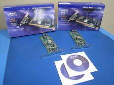 Lot of 2* AMCC Storage 3WARE 9550SX 4LP SERIAL SATA II RAID Controller 64 bit