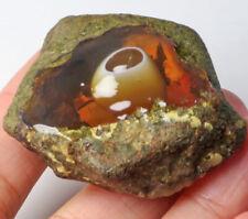 128Ct Ethiopian Crystal Black Opal Rough Clarity Enhanced YSJ3782