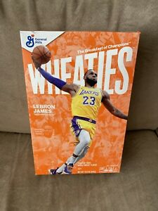 LEBRON JAMES Wheaties Box Los Angeles Lakers 15.6 oz Full Cereal Box IN HAND