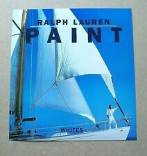 Ralph Lauren PAINT WHITES 6-page Brochure 1996 Ad Vintage/Magazine/Print/Fashion
