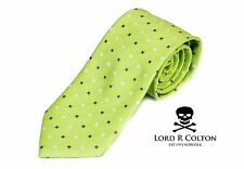 Lord R Colton Studio Tie - English Lime & Gin Woven Necktie - $95 Retail New