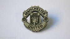 Official Manchester United - Antique Silver Pewter Crest - Pin / Badge (New)