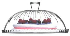 Pasabache Glass Cake Glass Cloche Cake Stand Cake Dome Plate Cover 32cm Pattern