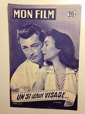 MON FILM N°445 1955 UN SI DOUX VISAGE / ROBERT MITCHUM - JEAN SIMMONS
