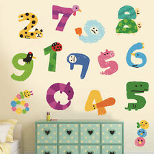 Numbers Animals Removable Wall Sticker Nursery Baby Decor Kids Decal Art Mural