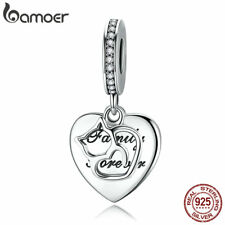 Bamoer A 925 Sterling Silver charm Bead Love Of Cat With CZ Fit Women Bracelets