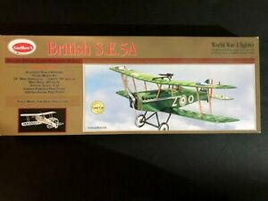 Guillow 202 British Se 5A Laser Cut Model  New in Opened Box Guillow's S.E. 5A