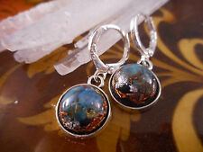 Quantum Quattro,Danburite,Tourmaline Orgone/Organite Sterling Silver Earrings