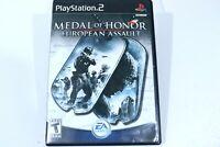 Medal of Honor European Assault PlayStation 2 War Game Complete Manual & Case