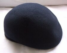 Vintage Mens Normandy SIMA Int'l 100% Wool Felt Newsboy Cabbie Cap Hat Navy Bell