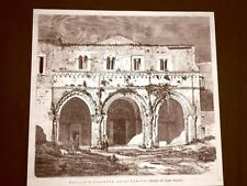 Abbazia di San Clemente a Castiglione a Casauria nel 1875 Abruzzo