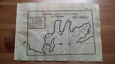 """1817 Allezard: Portolano Isola di Kythnos Citno Termia """"l'Isle de Termie"""" Grecia"""