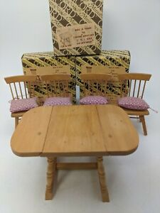 Vintage Concord dollhouse miniature dining room set in original box