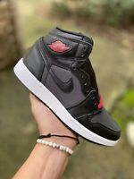 Nike Air Jordan 1 Retro High OG Black Red Bred 575441-060  Youth 5Y, Women's 6.5