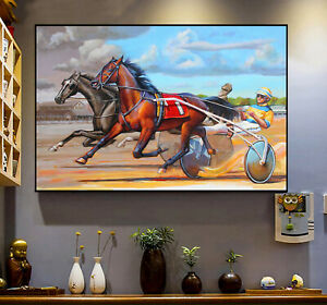 Harness Racing Horse Racing Lover Gift Vintage Decor Poster No Frame