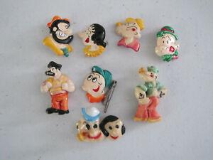 6 Popeye Lisa Frank pins plus 2 similar