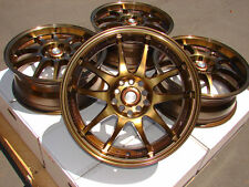 17x7 Bronze Wheels Rims 5x100 5x114.3 Scion TC XD FR-S Celica Corolla Matrix
