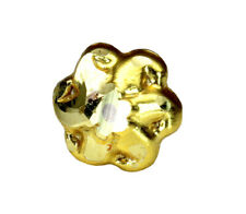 Flower nose stud Indian piercing nose ring gold plated push pin stud