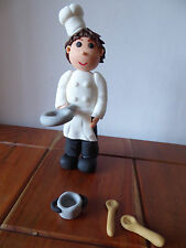 3D HANDMADE CHEF COOK OR OTHER JOB CAKE TOPPER/ birthday