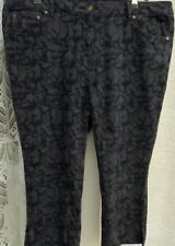 """( Ref 281 ) Dash - Size 20P W 38"""" - Ladies Blue Straight Leg Cropped Trousers"""
